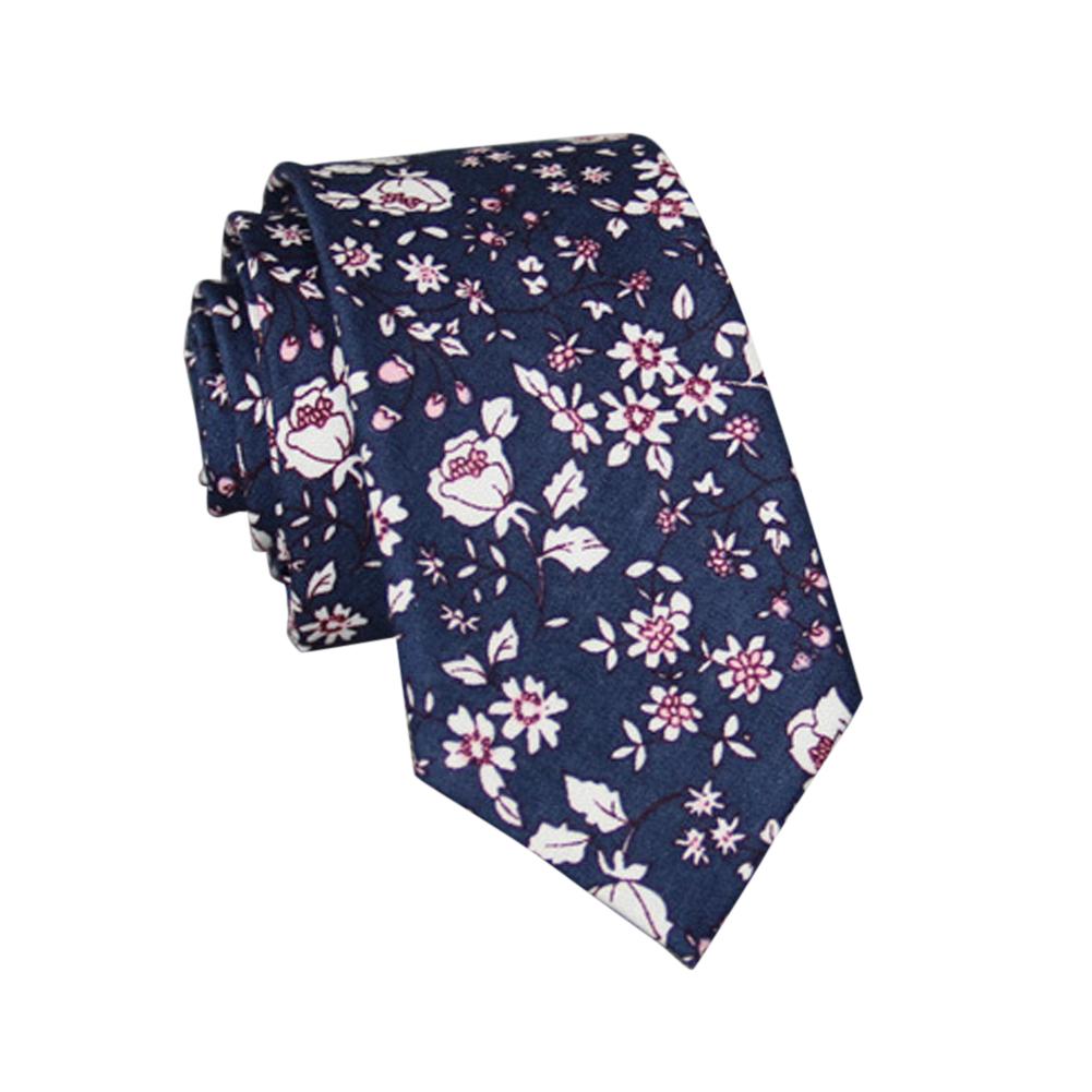 Men's Wedding Tie Floral Cotton Necktie Birthday Gifts for Man Wedding Party Business Cotton printing -025
