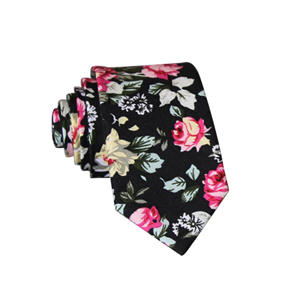 Men's Wedding Tie Floral Cotton Necktie Birthday Gifts for Man Wedding Party Business Cotton printing -027