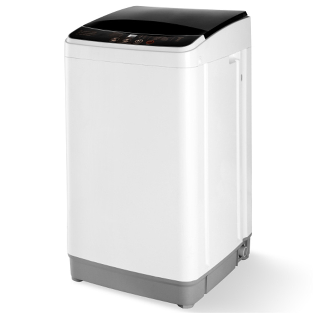 [US Direct] Automatic  Washing  Machine 8 Lbs Load Capacity Portable Washer With 10 Washing Programs white