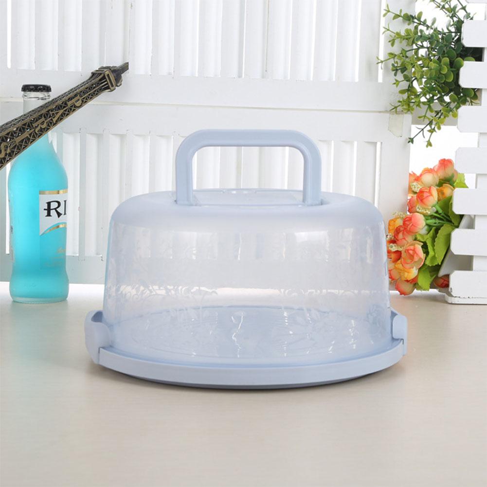 Portable Handheld PP Cake Box Durable Sealing No Deformation Cake Storage Box blue