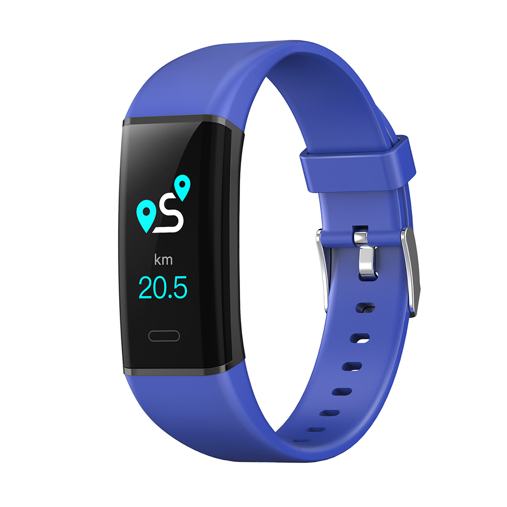 Smart Bracelet MK05 Sports Health Bracelet Bluetooth Step-counting Heart Rate and Blood Pressure Monitoring Blue