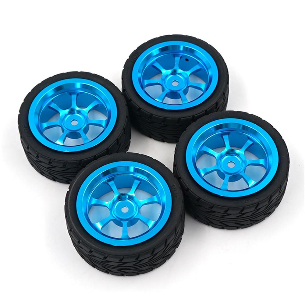 4PCS Rim and Tires with 7mm To 12mm Adapter for 1/18 WLtoys A959-B A949 A959 A969 A979 K929 RC Car Parts Aluminium Alloy Wheels 4PCS