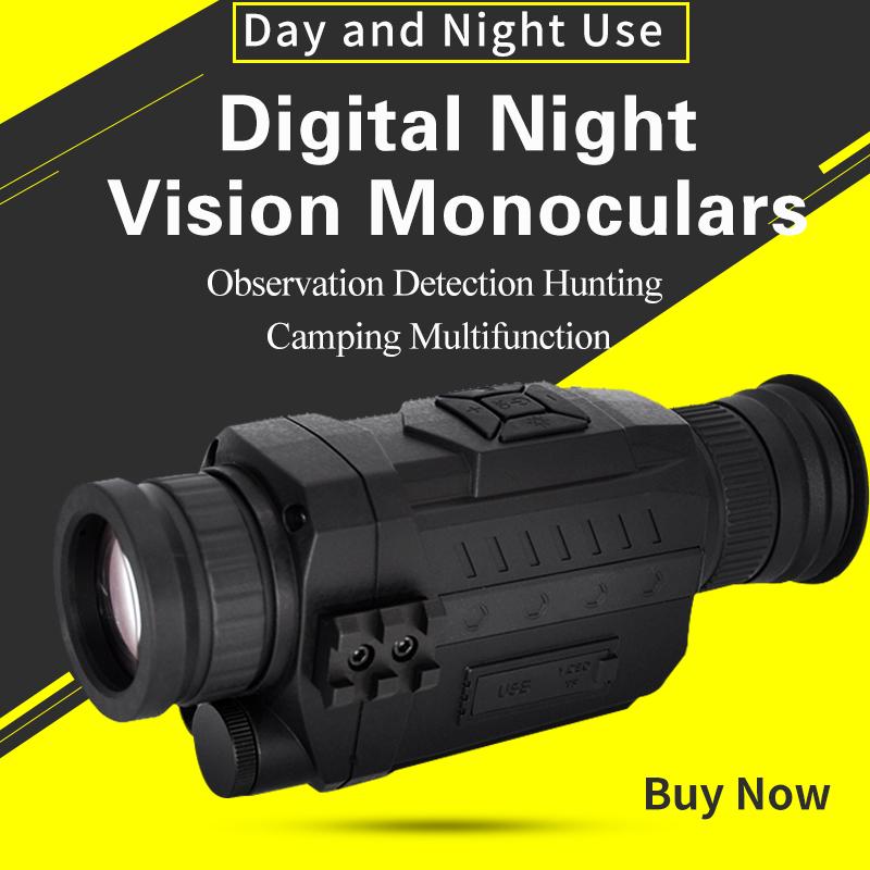 Infrared Digital Night Vision Monoculars Full Dark 5X40 200M Range Hunting Monocular Night Vision Optics Camouflage