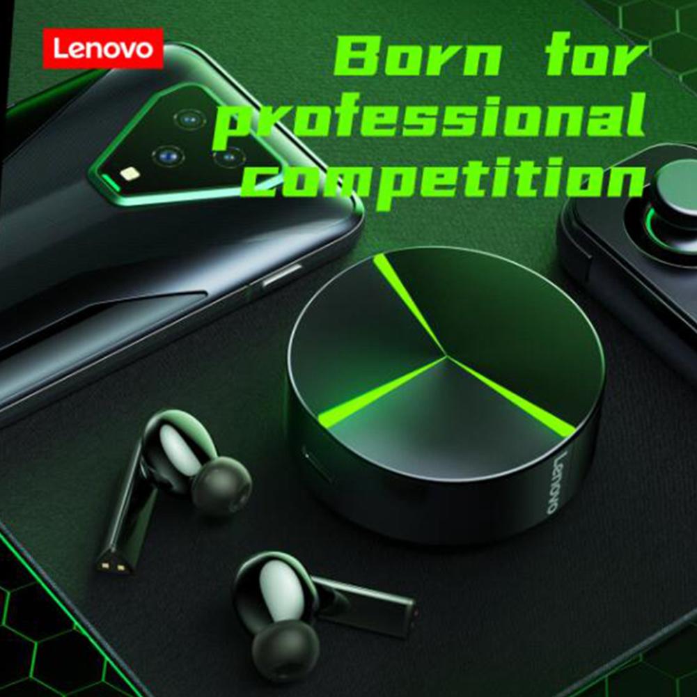 Original LENOVO GM1 Wireless Headset Bluetooth V5.0 Game True Extra Long Life Touch Control Earphones Black