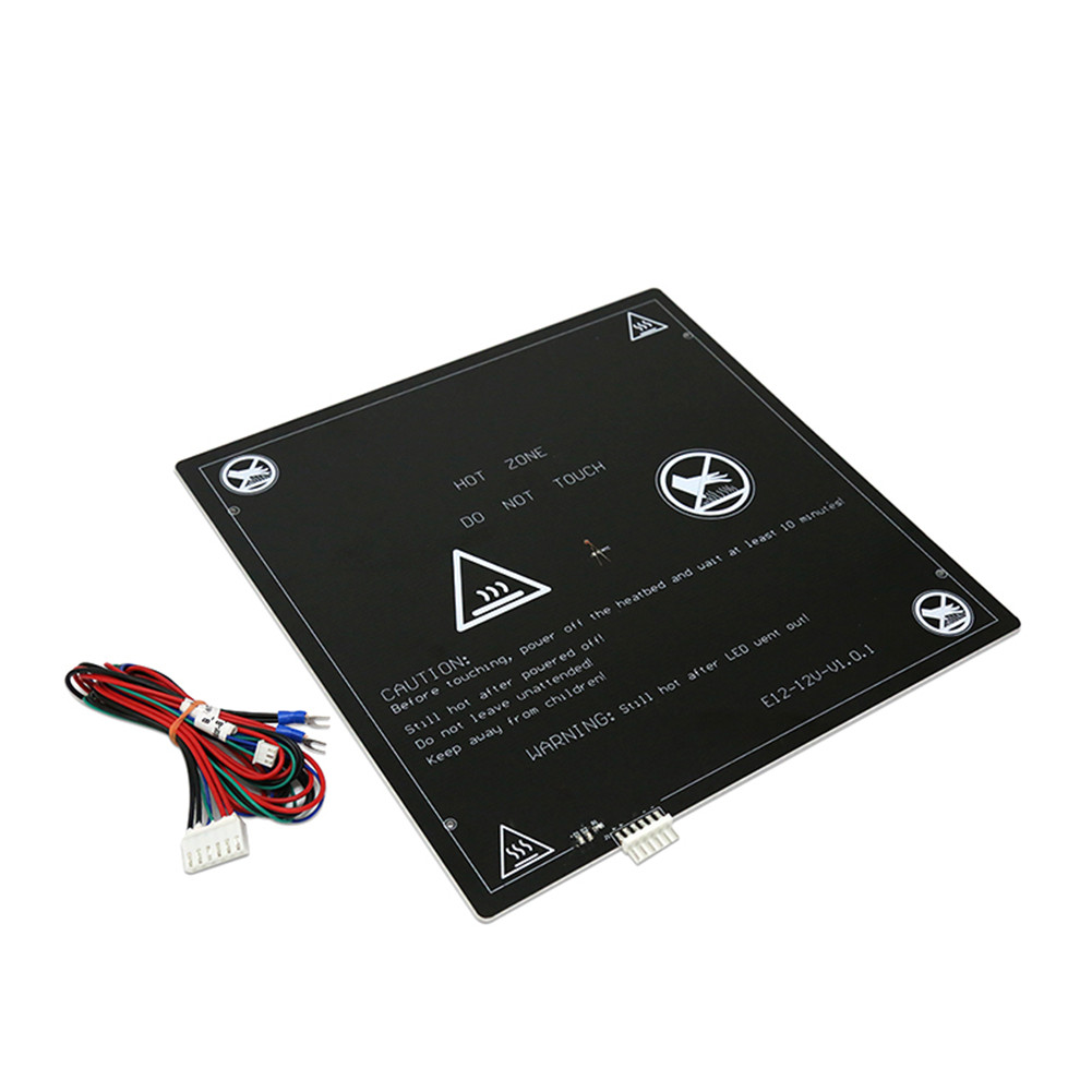 Aluminum MK2 MK3 12V Hot Bed Holder 220x220mm 300x300mm with Black Cable for Anet A8 A6 A2 3D Printer 220 * 220mm