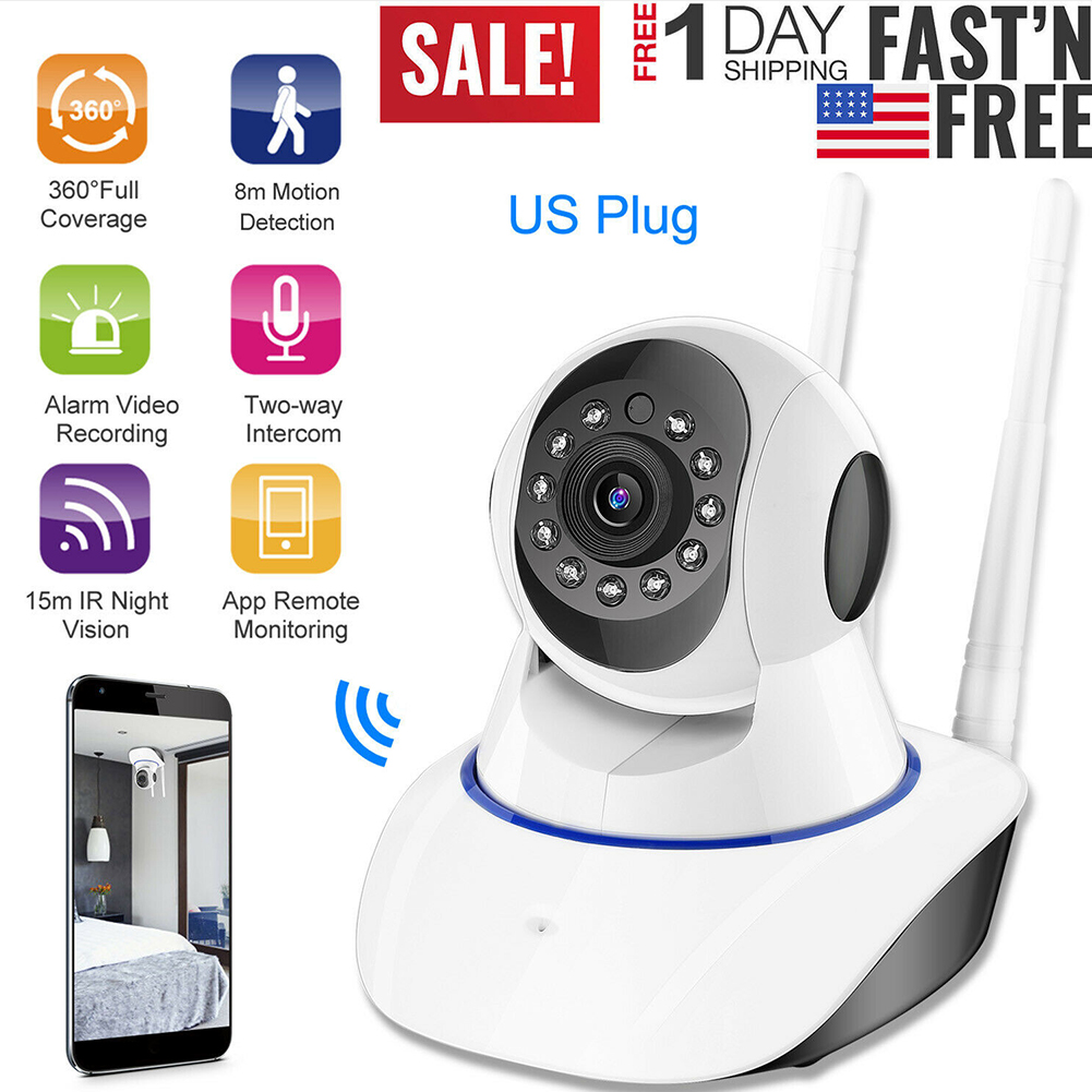 Mobile Phone Remote Wireless Monitor Surveillance Camera Smart Home WIFI Camera US Plug