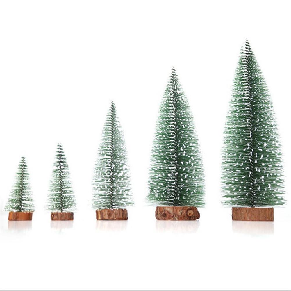 Desktop Miniature Pine Tree Tabletop Christmas Tree Small Pine Tree Decor Christmas Tree Toppers  20cm