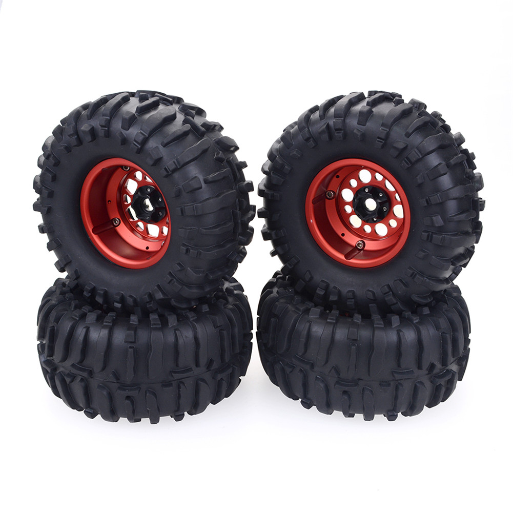4pcs 2.2inch 120mm 1/10 RC Crawler Truck Wheels Tires for Redcat HPI FTX Mauler TRAXXAS TRX4 RGT Traction Hobby Founder II Axial SCX10 II VRX Racing 4PCS