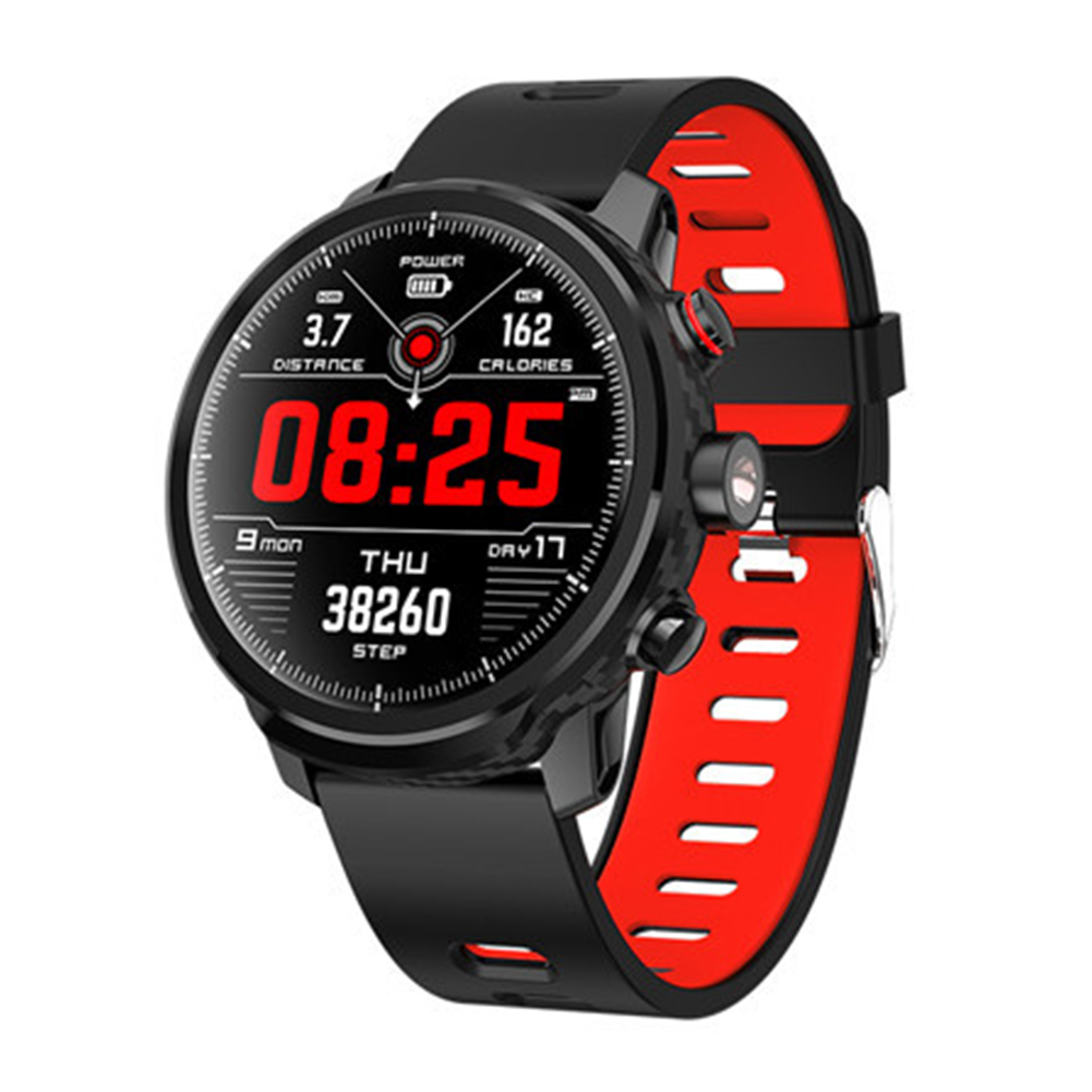 L5 Smart Watch IP68 Waterproof Multiple Sports Mode Heart Rate Monitoring Weather Forecast Smartwatch red