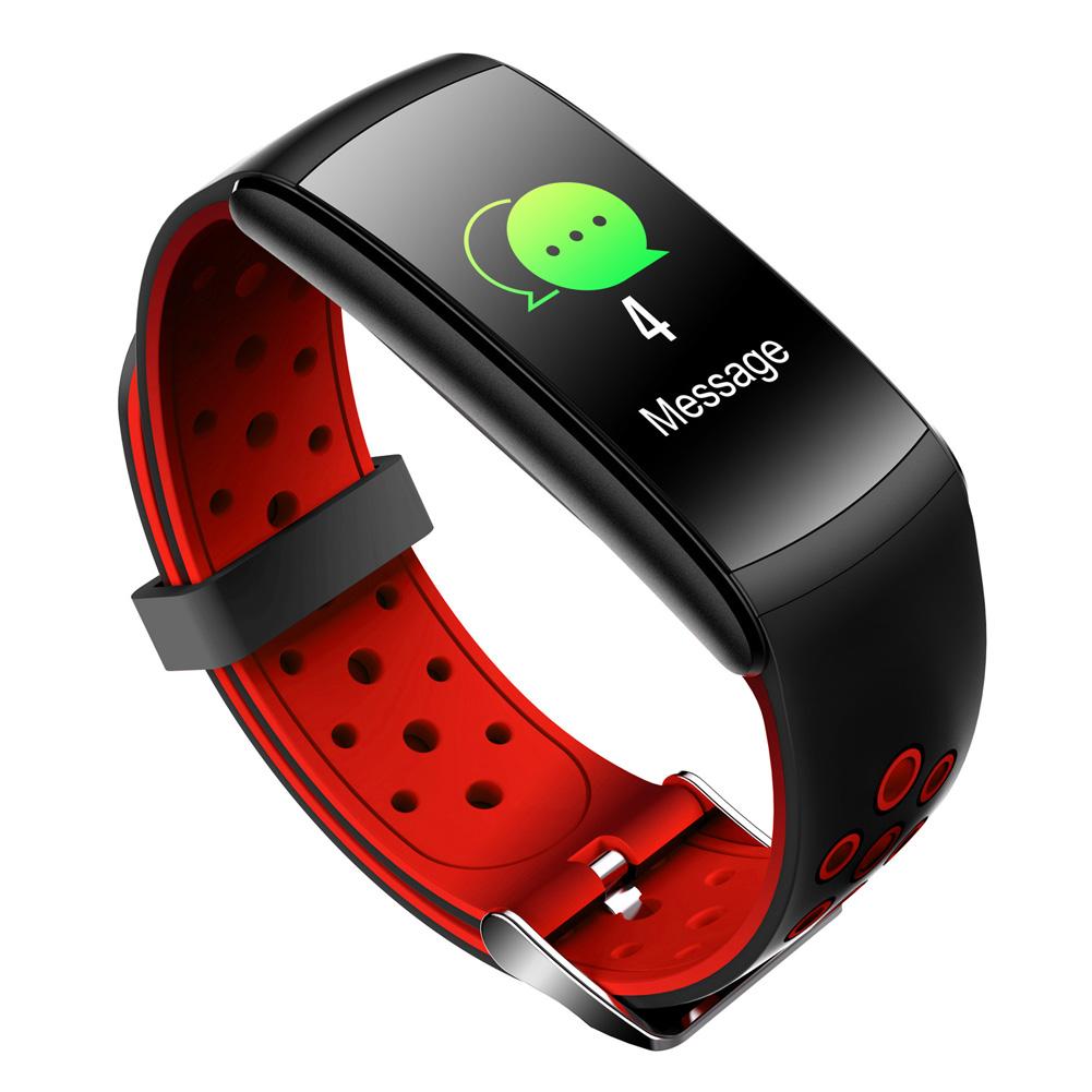 Smart Bracelet Heart Rate Blood Pressure Waterproof Bluetooth Watch Wristband Fitness Tracker  red