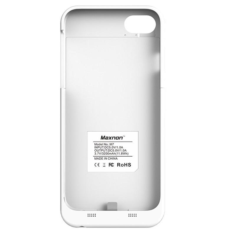 Rechargeable Portable Charger Case for iphone6 Plus/6S Plus/7 plus,4000mah Battery Case