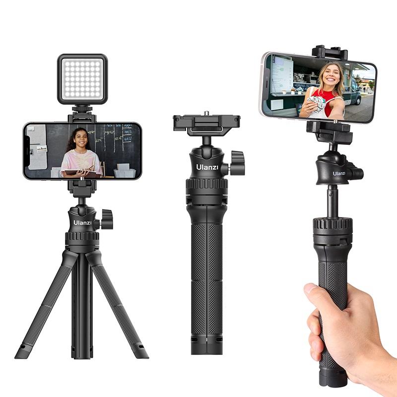 Mt-34 Extendable Smartphone Selfie Tripod With Phone Mount 80cm Vlog Slr Mobile Tripod black