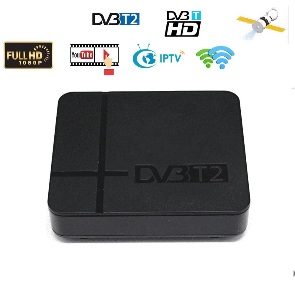 High Digital Tv Terrestrial Receiver Dvb-t2 K2 Hd Set-top  Box Pvr Tv Tuner Full 1080p Set Top Box US Plug