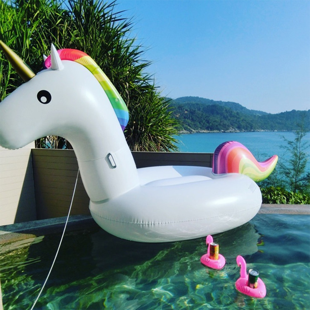 [EU Direct] Inflatable Unicorn Pool Float, Medium Party Tube Raft, Outdoor Swimming Pool Floatie Lounge Toy for Adult Womens & Kids