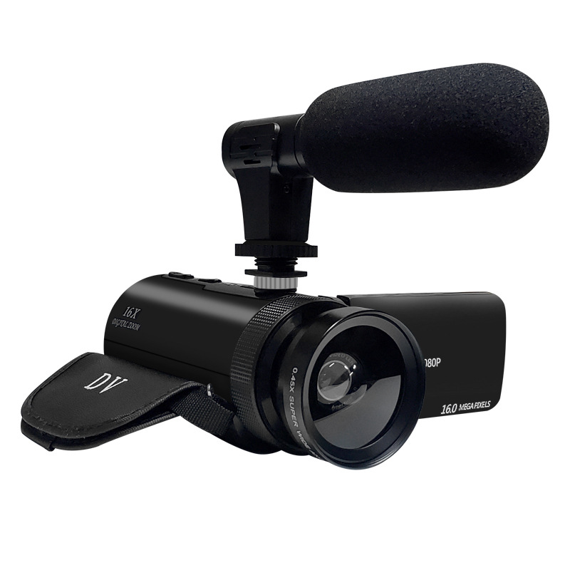 HD 1080P Digital Video Camera Camcorder W/Microphone Photography 16 Million Pixels Standard + microphone + wide-angle lens