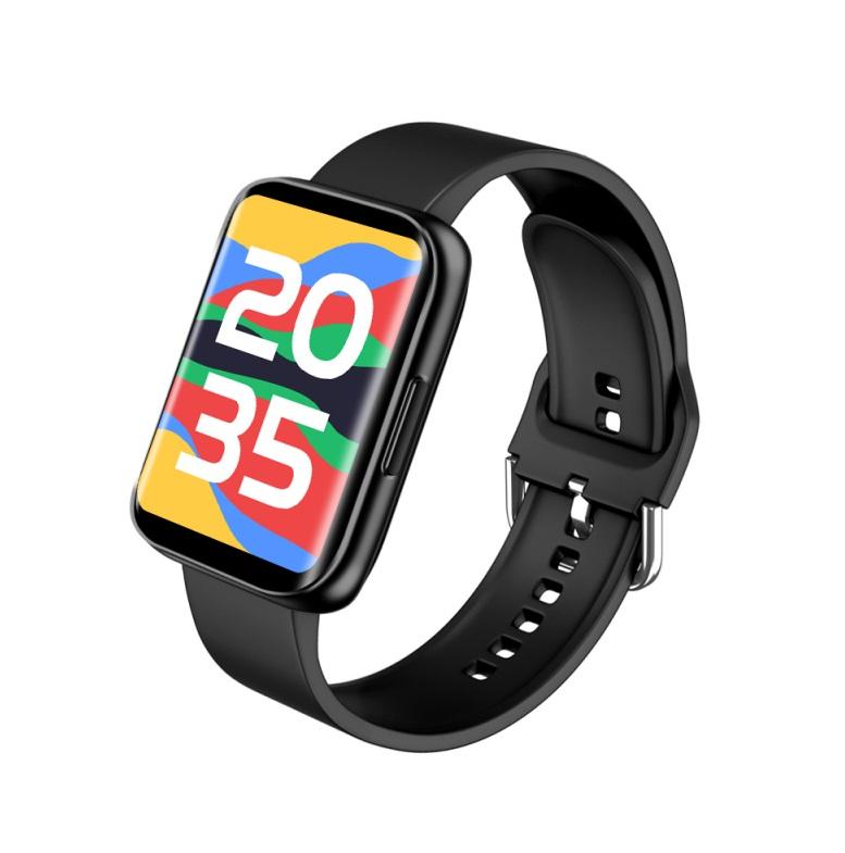 S216 1.78Inch HD Smart Watch Blood Pressure Heart Rate Monitor Fitness Tracker Sport Smartwatch black