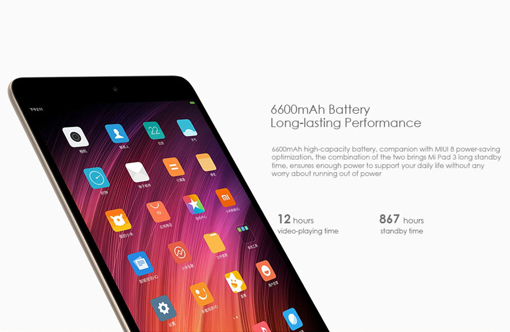 Купить со скидкой Xiaomi MiPad 3 Tablet PC - Android 7.0, 4GB RAM, 7.9 Inch Display, 6600mAh, 13MP Camera, Dual-Band W