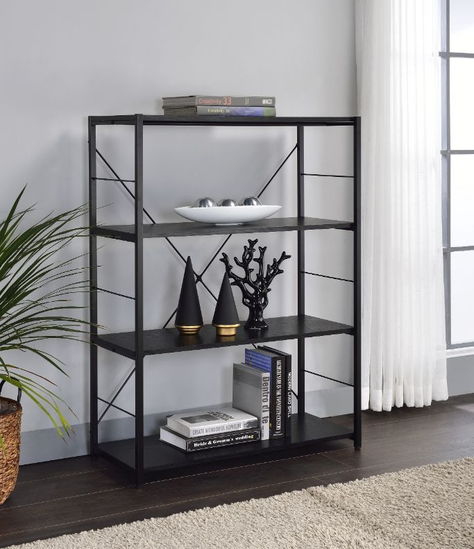 [US Direct] ACME Tesadea Bookshelf, Black Finish 92775