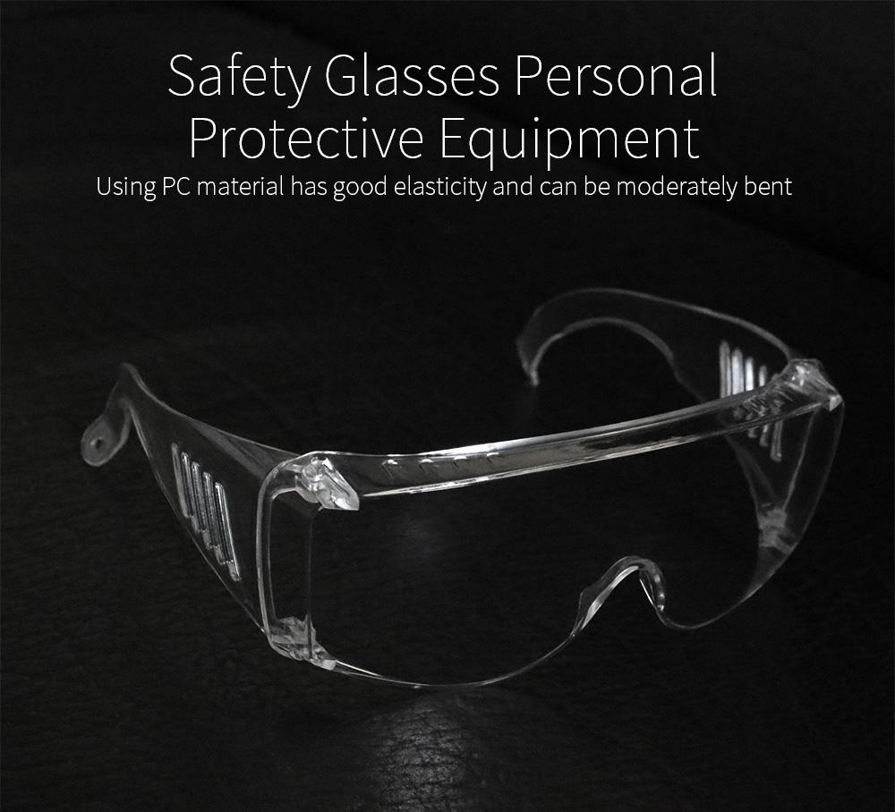 Goggles Glasses Unisex High Definition Fog Blocking Anti-dust Droplets Adjustable Eyewear Transparent