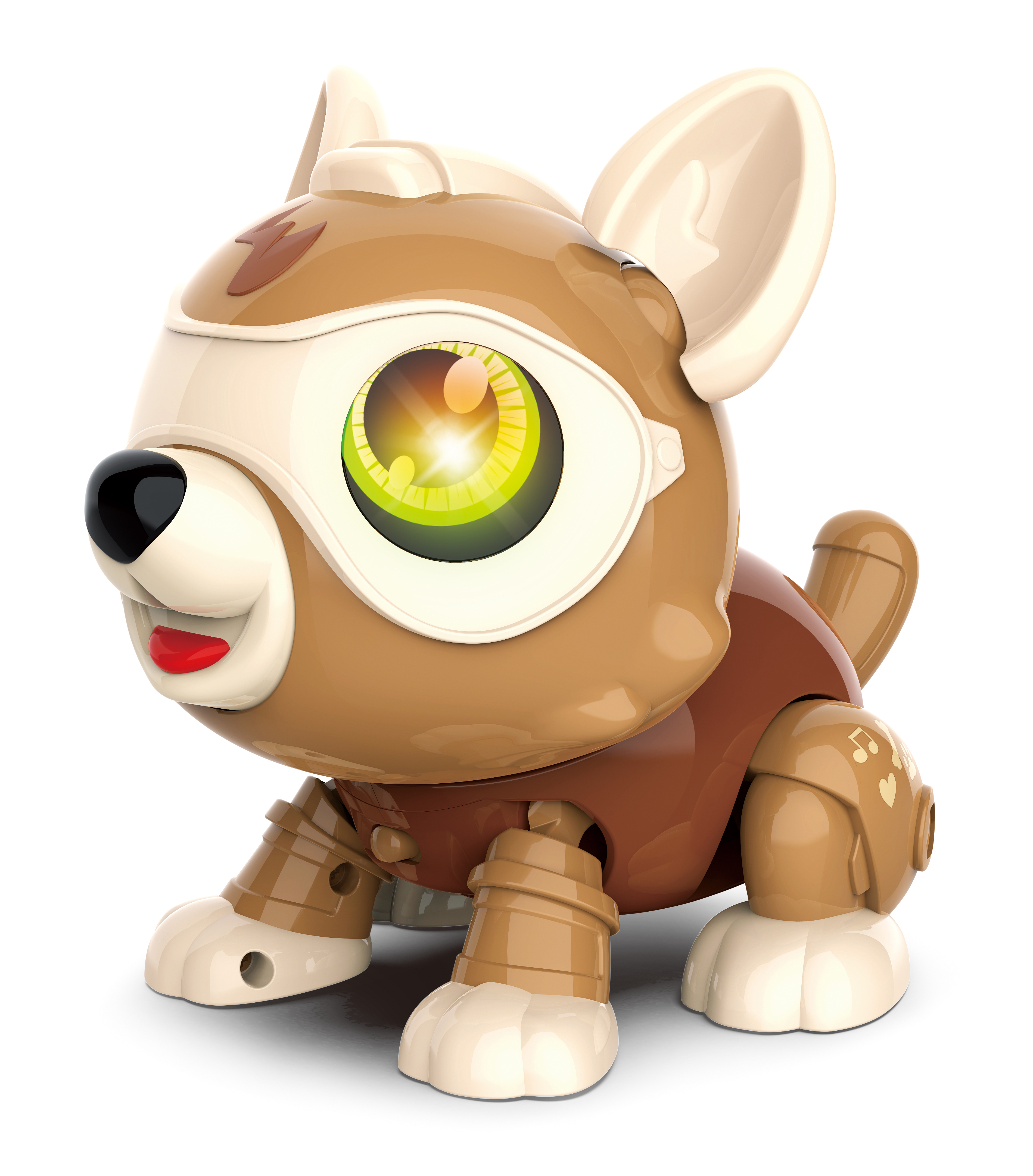 Robot Dog Cute DIY Sing and Dance Parent-child Interactive Toys yellow