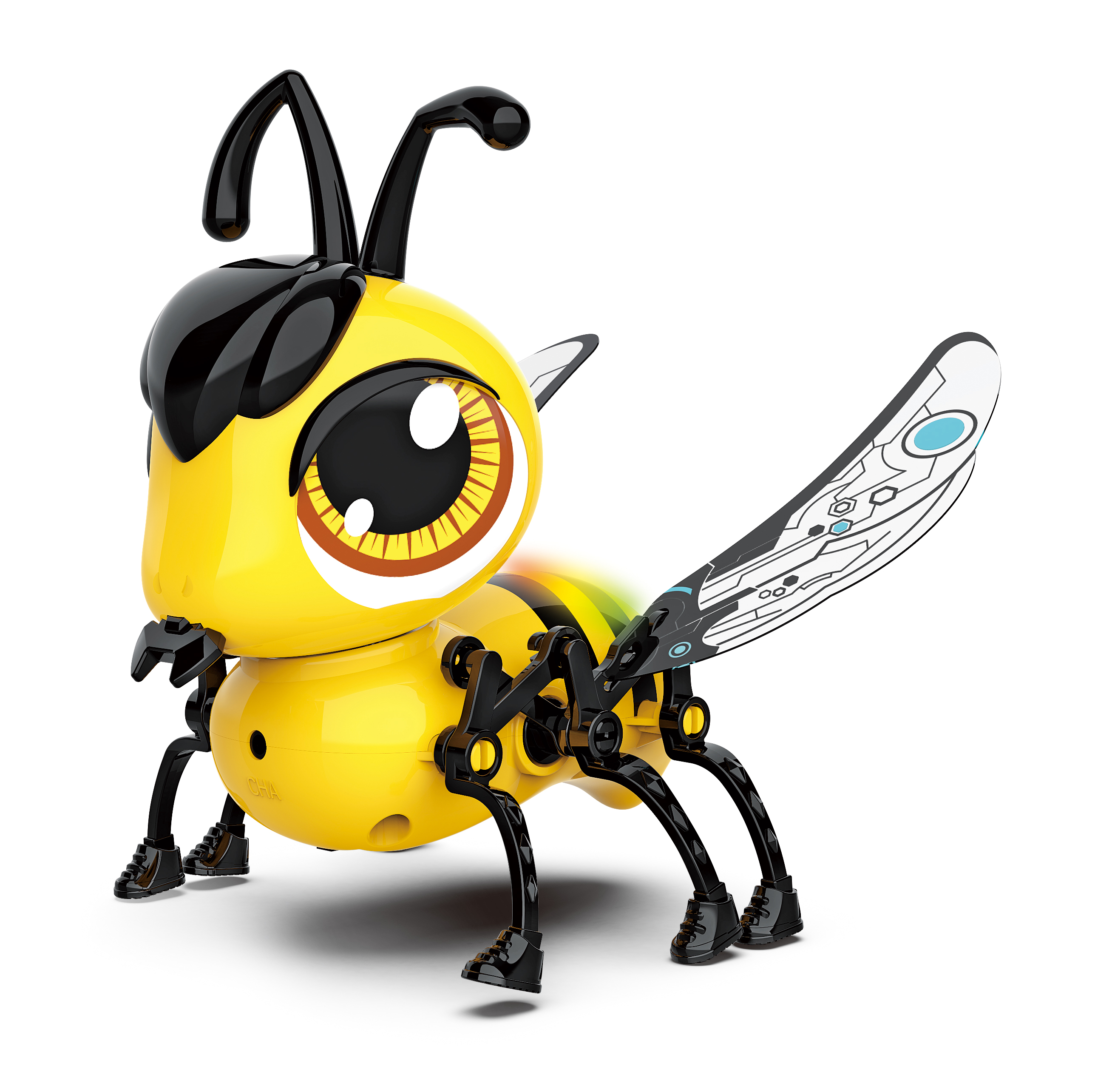 Robot Insect Cute DIY Sing and Crawling Parent-child Interactive Toys Yellow DIY