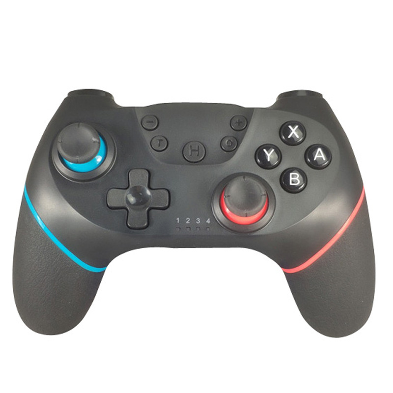 Bluetooth Wireless Pro Controller Gamepad Joypad Remote for Nintend Switch Console Gamepad Joystick  Left blue right red