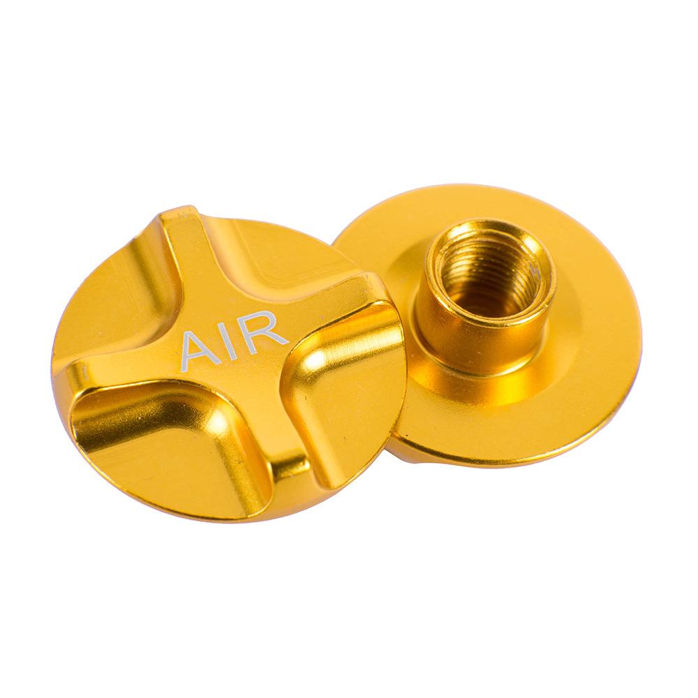 ZTTO Fork Shoulder Air Nozzle Cover Air Fork Shoulder Cap Shockproof Front Fork Aluminium Alloy Cover Gold