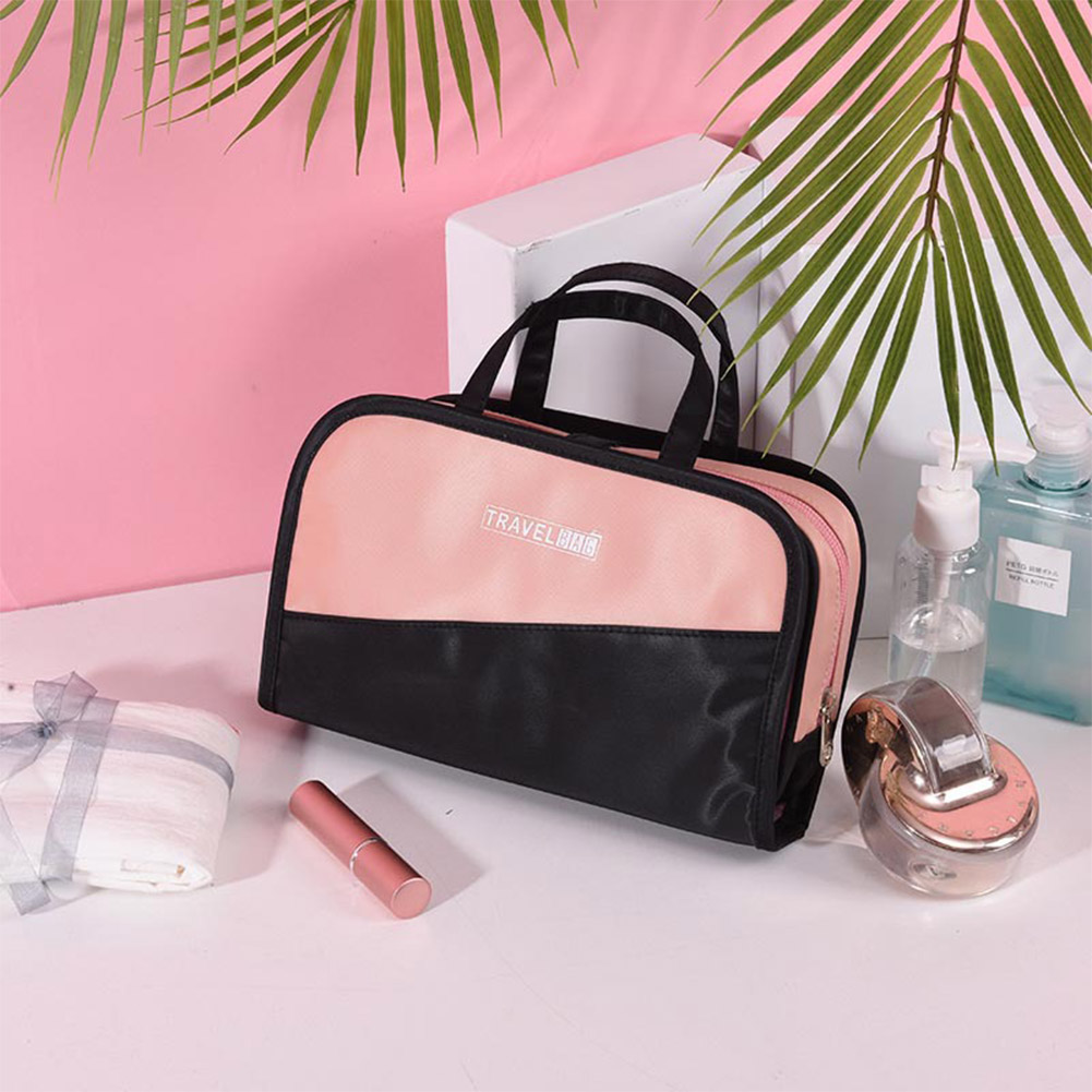 Multifunction 2in 1 Large Capacity Travel Makeup Bag with Handle