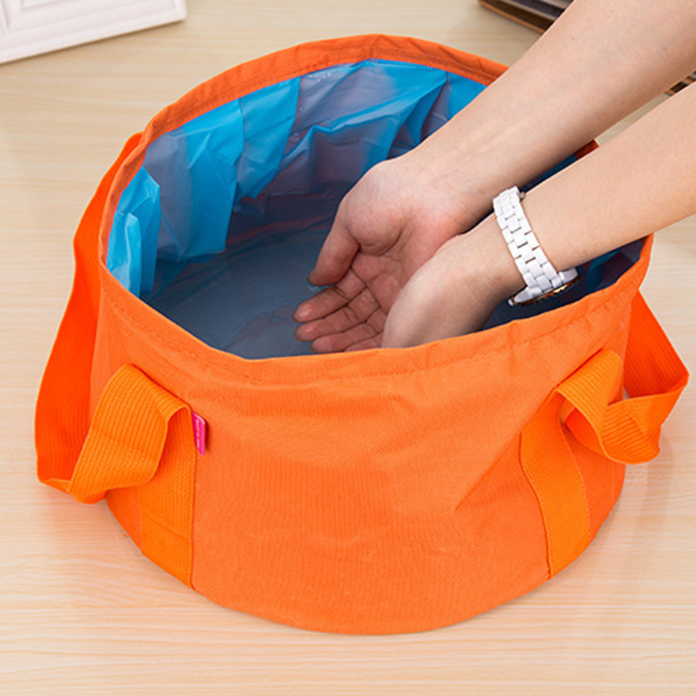 15L Camping Bucket Outdoor Wash Basin Waterproof Folding Bucket Portable Collapsible Water Bucket for Travel Fishing
