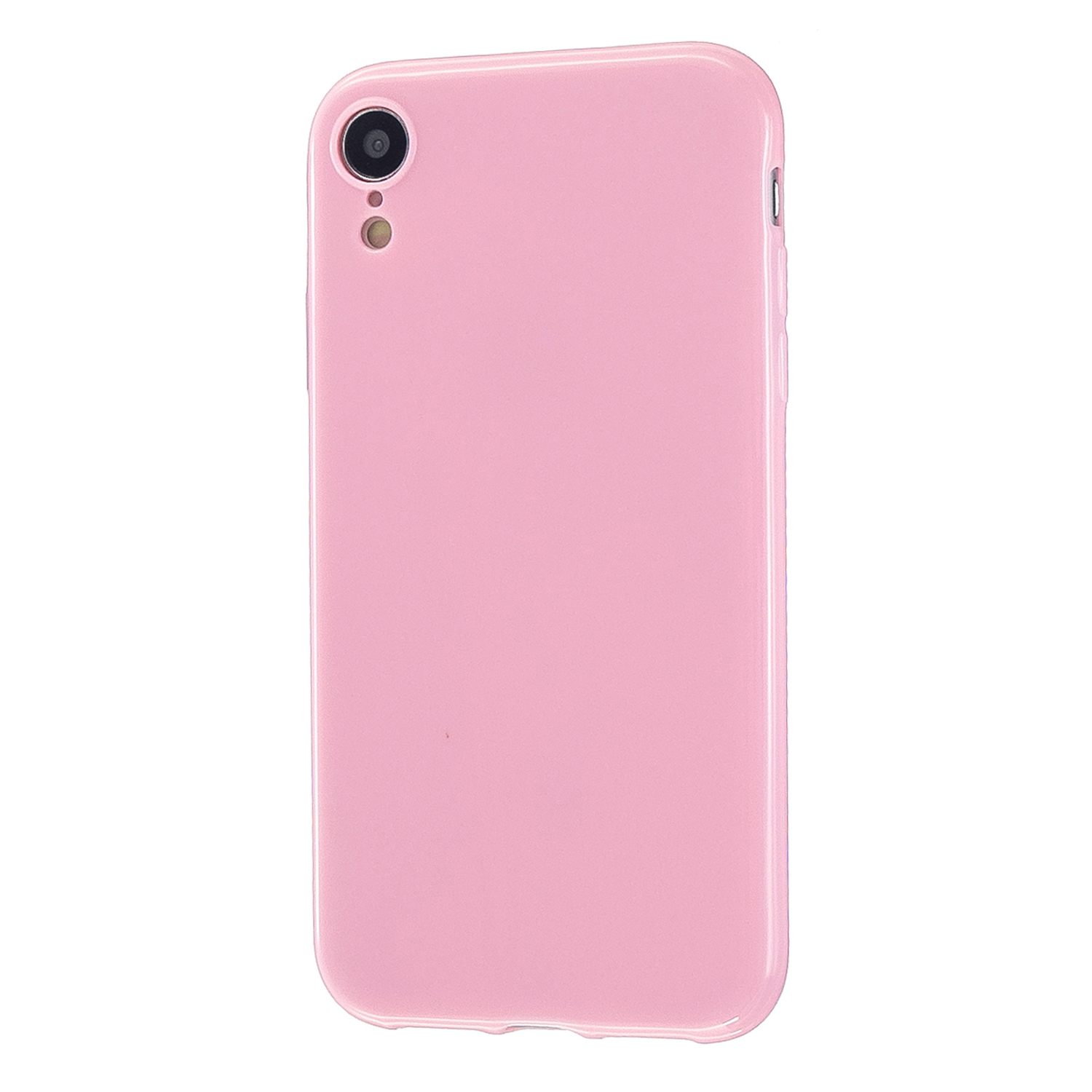For iPhone X/XS/XS Max/XR  Cellphone Cover Slim Fit Bumper Protective Case Glossy TPU Mobile Phone Shell Rose pink
