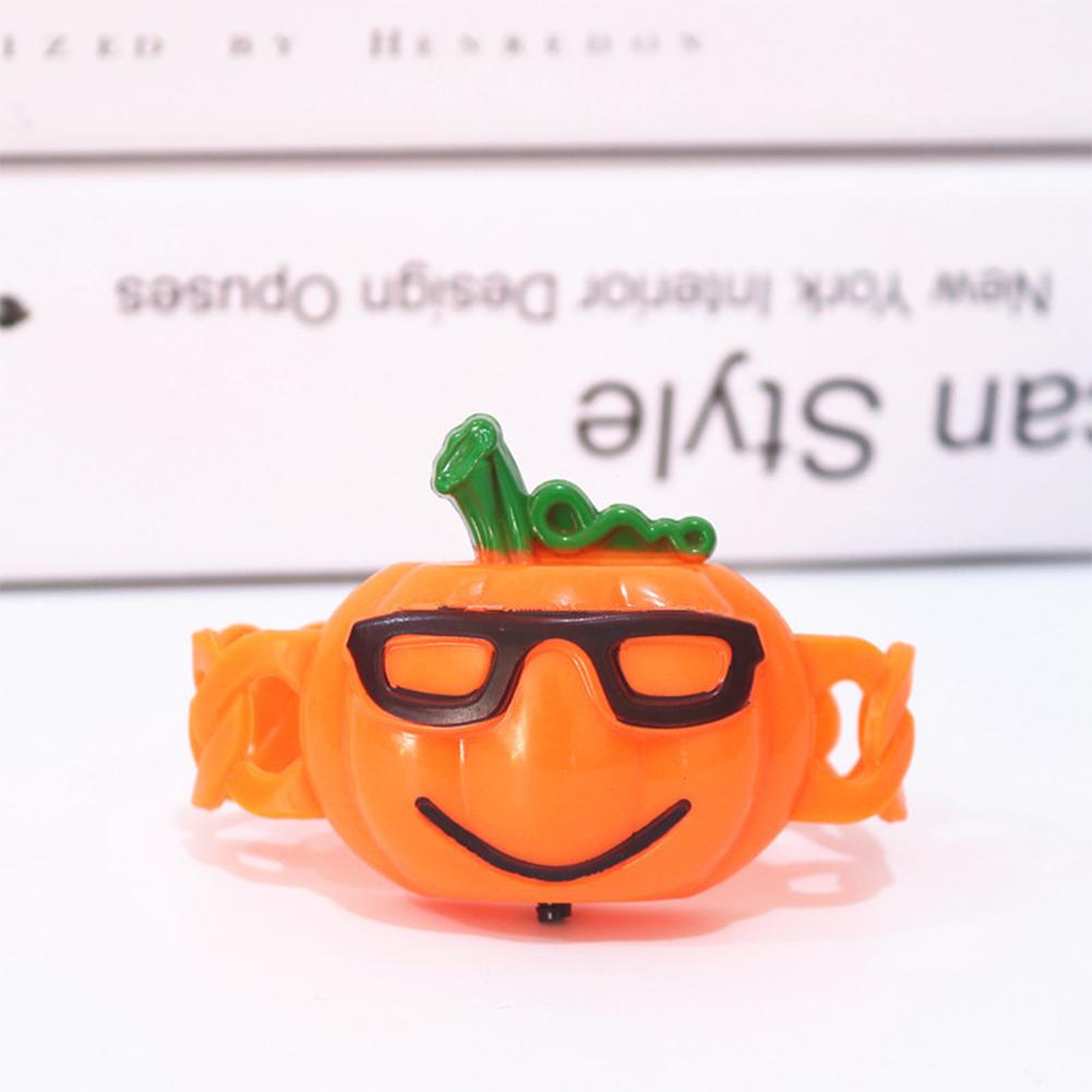 Halloween Luminous Hand Ring Lamp Shiny Kids Cartoon Wristband Funny Toys One size
