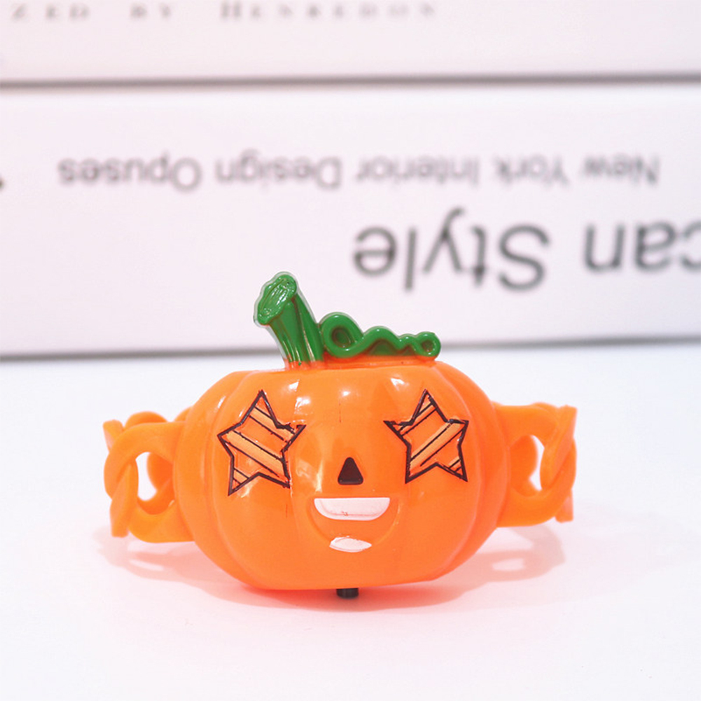 Halloween Luminous Hand Ring Lamp Shiny Kids Cartoon Wristband Funny Toys One size