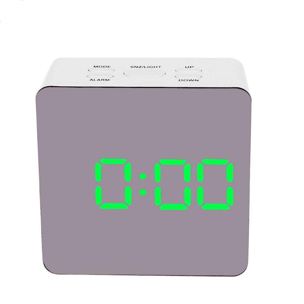 Simple Home Multi-Function LED Digital Alarm Clock PVC Rectangular Light TS-S70-G