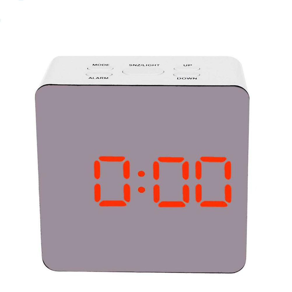 Simple Home Multi-Function LED Digital Alarm Clock PVC Rectangular Light TS-S70-R