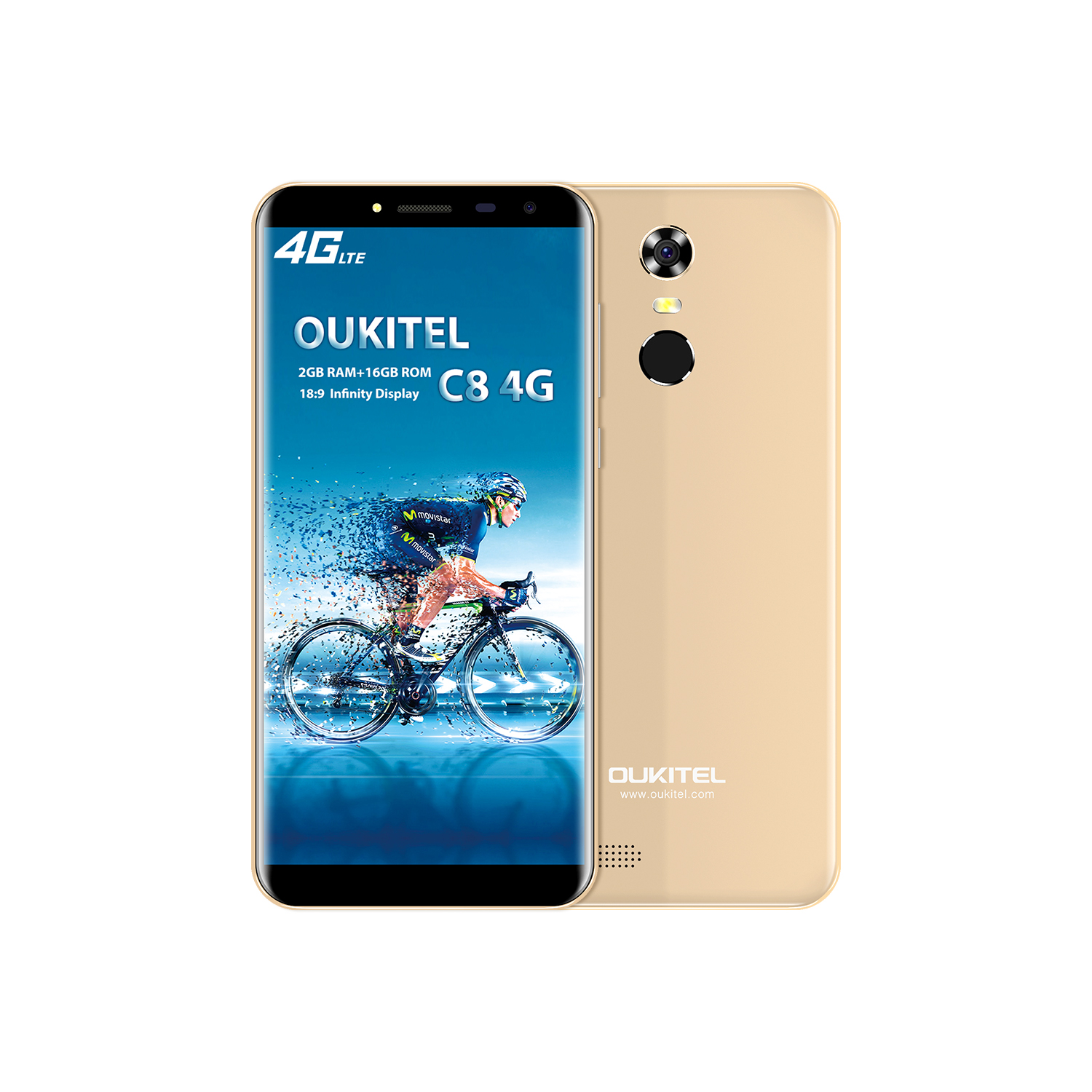Wholesale Oukitel C8 Android 4g Smart Phone Gold From China