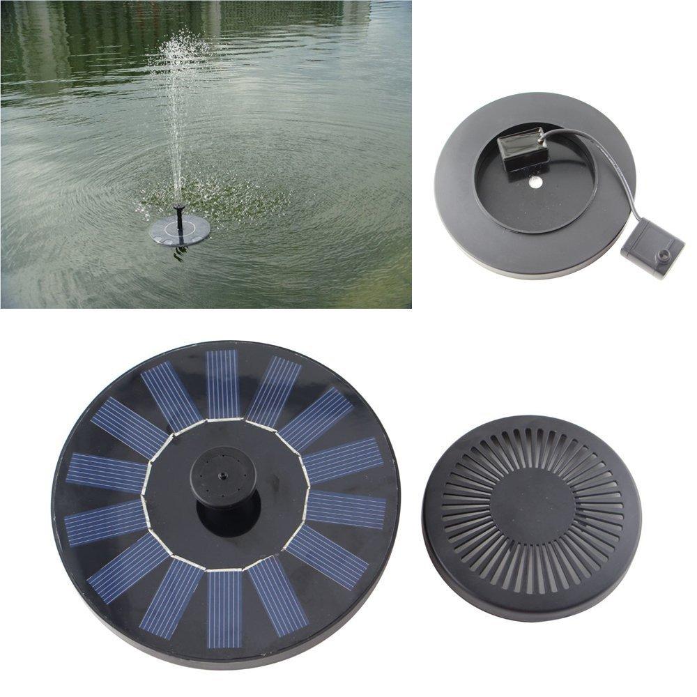 Solar Water Fountain Pump for Garden Pool Pond Outdoor Garden Decoration black