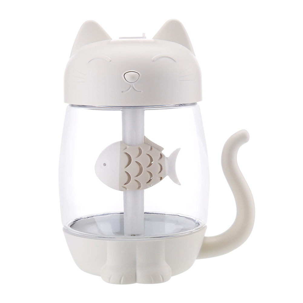 Cute Cat Humidifier Office Home Mini USB Humidifier 3 in 1 Humidifier white