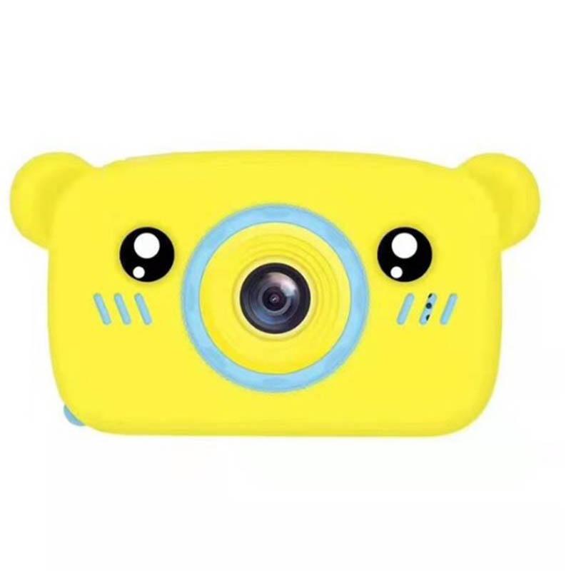 Portable Children Camera Digital Mini Bear Cartoon Camera Long Battery Life Camera yellow