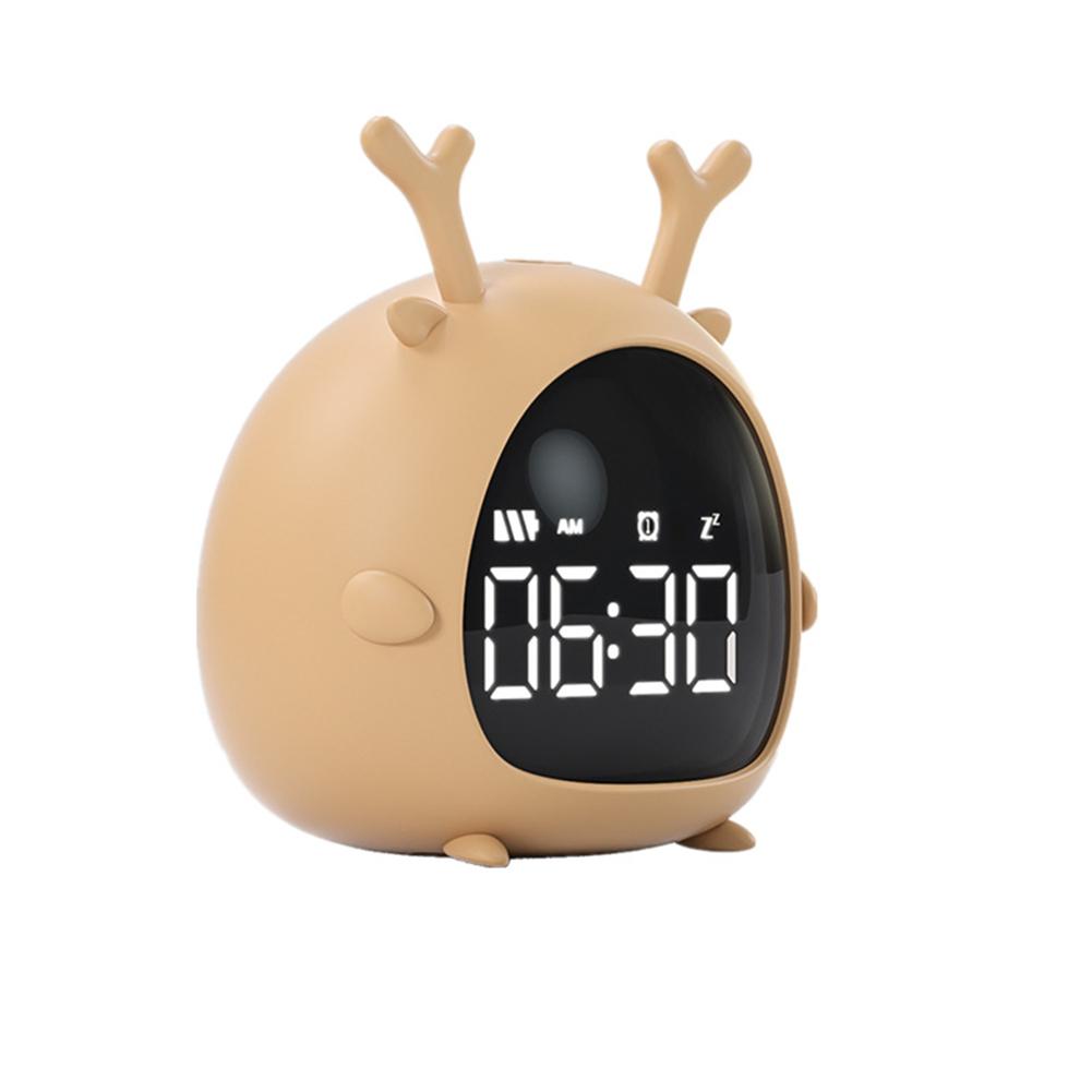 Cartoon Alarm  Clock Charging Countdown Led Electronic Bedside Digital Wake Up Jumping deer