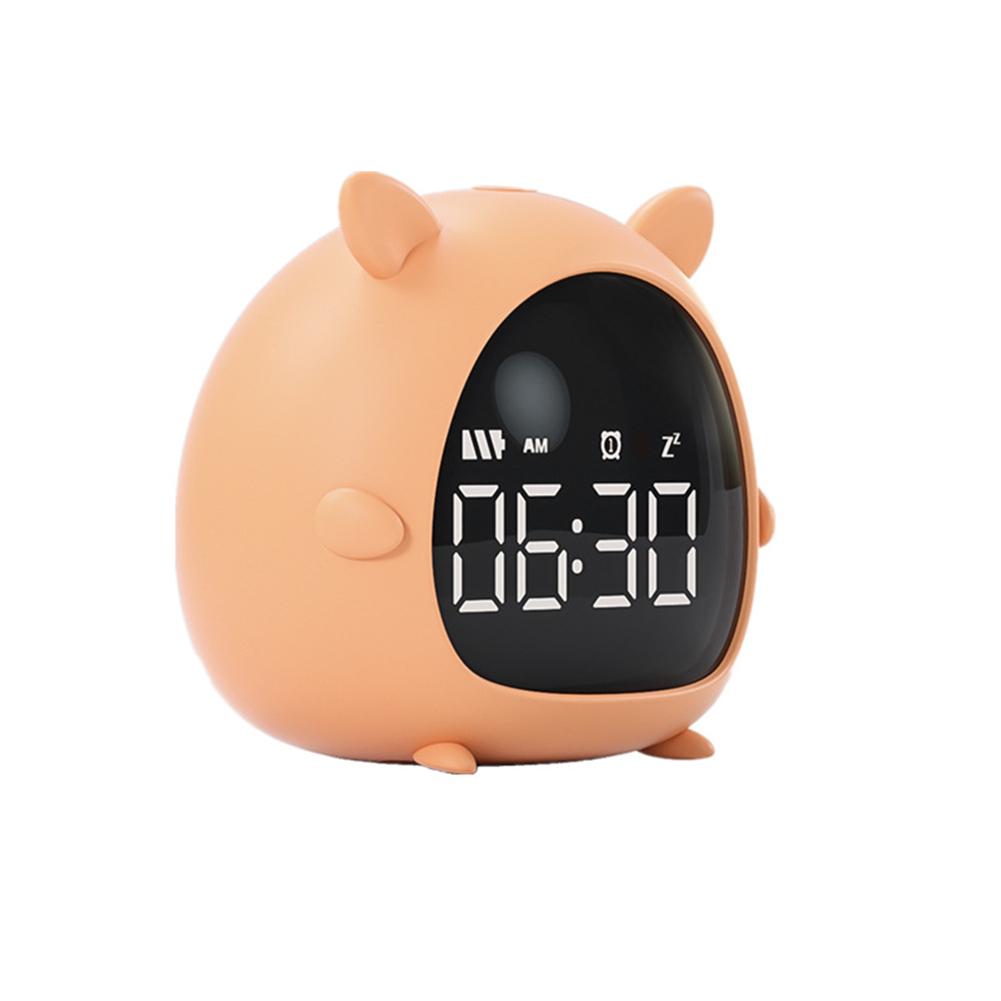 Cartoon Alarm  Clock Charging Countdown Led Electronic Bedside Digital Wake Up Pippi Fox