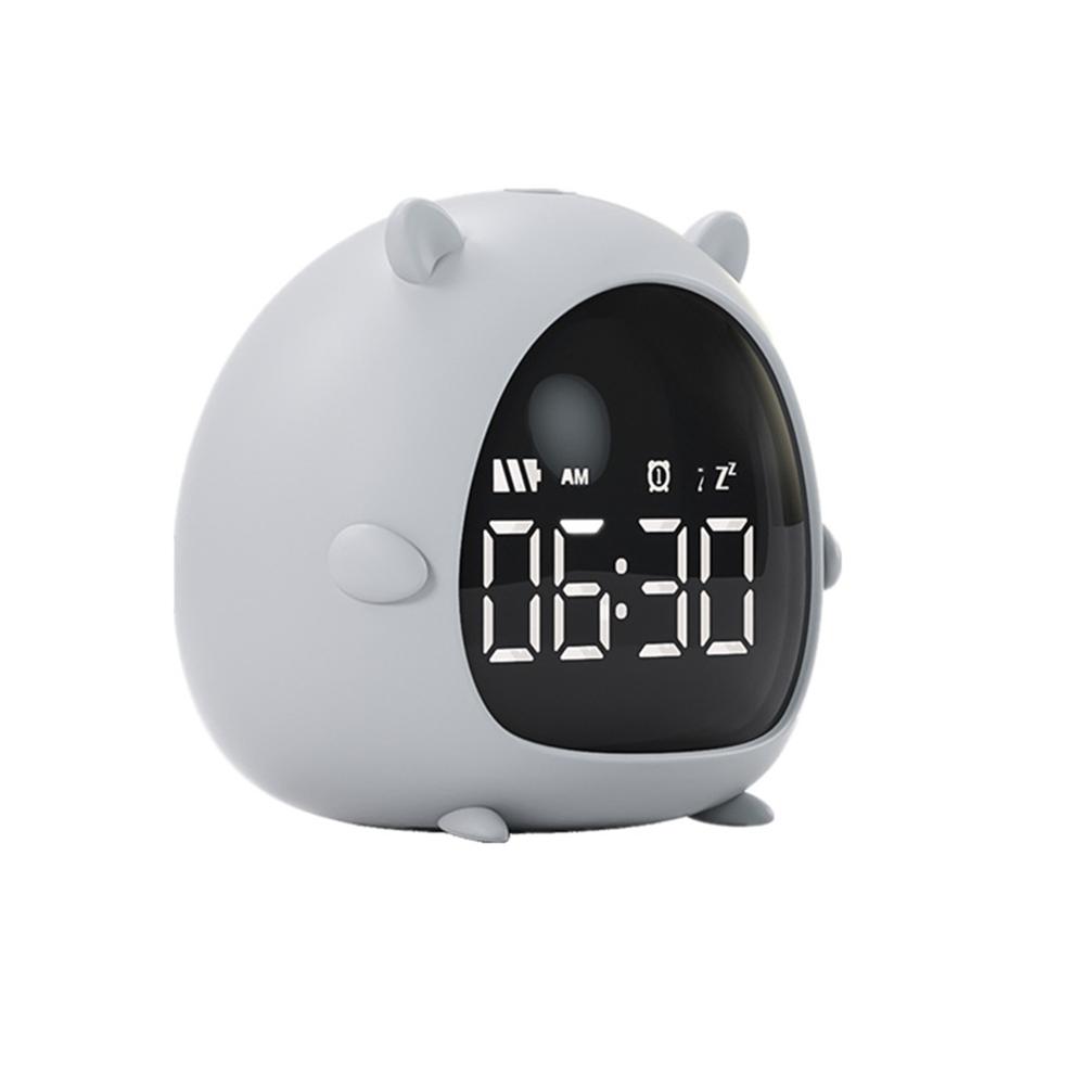 Cartoon Alarm  Clock Charging Countdown Led Electronic Bedside Digital Wake Up Good Mouse