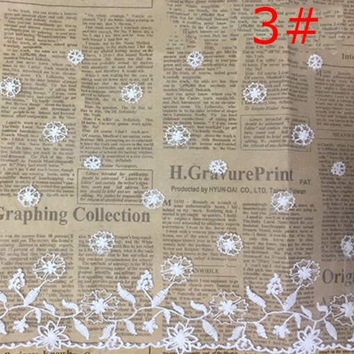 Lace Fabric Ribbon Tulle Floral Lace Trim Wedding Dress Bridal Veil Trimmings DIY Crafts Apparel Sewing Decoration