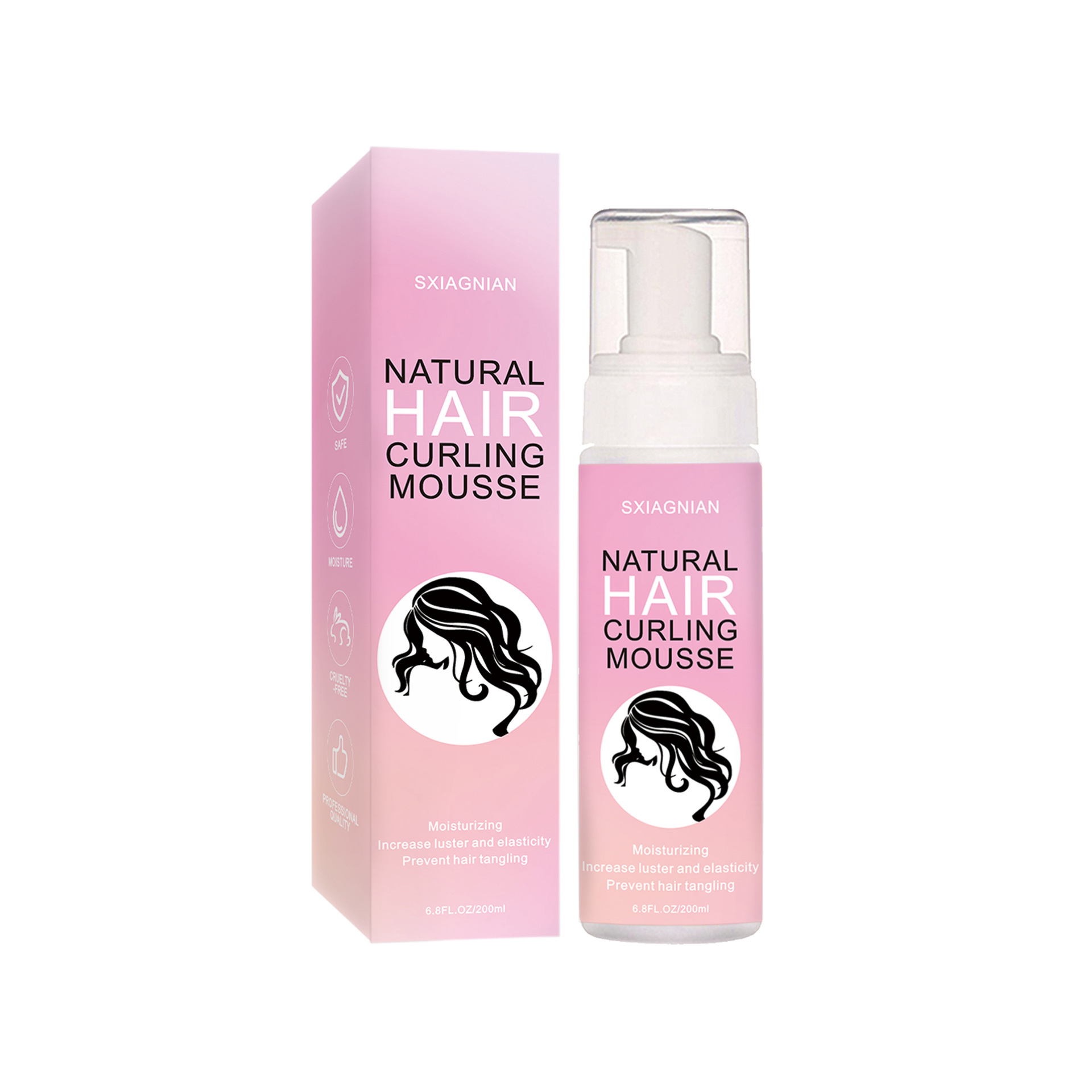Curly  Hair  Styling  Mousse Anti-frizz Moisturizing Strong Hold Hair Foaming Mousse 200mL
