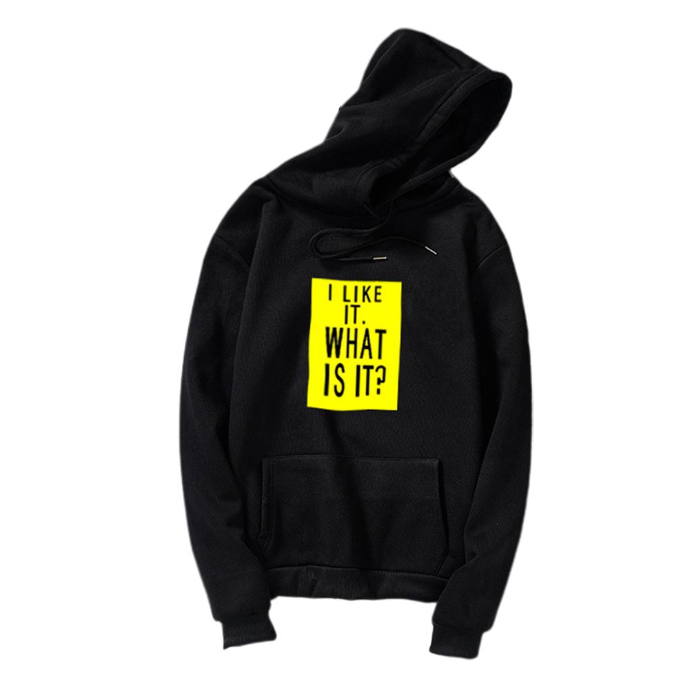 Couple Fleece Loose Thickened Long Sleeve Pocket Sweatshirts Hoody black_2XL