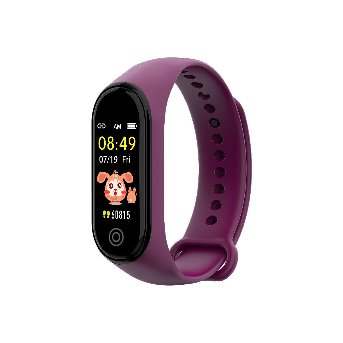 New RD05 Bracelet Smart Watch Fitness Tracking Sports Bracelet Heart Rate Blood Pressure Smart Bracelet Health Monitor purple