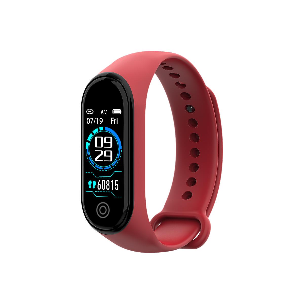 New RD05 Bracelet Smart Watch Fitness Tracking Sports Bracelet Heart Rate Blood Pressure Smart Bracelet Health Monitor red
