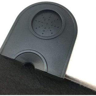 Barista Coffee Tamper Mat Holder Latte Expresso Rubber Silicone Pad Dropped Edge Non-Slip Espresso Machine Accessories Black_Silica gel
