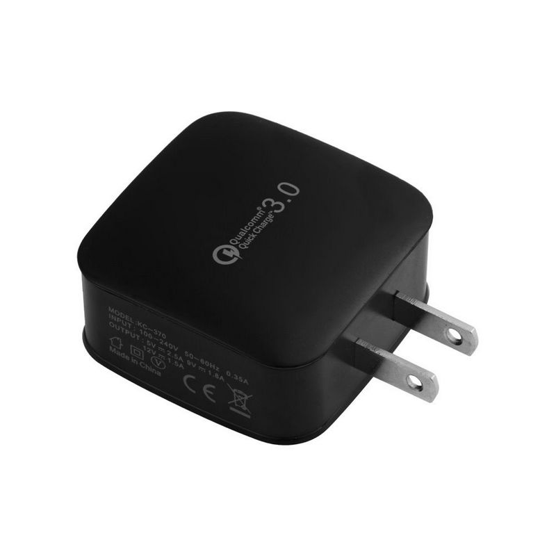 Quick Charge QC 3.0 USB Wall Charger PowerPort+ 1 for iPhone Samsung Galaxy S8/S7/Edge, LG G5, HTC 10 And More  Black_US Plug