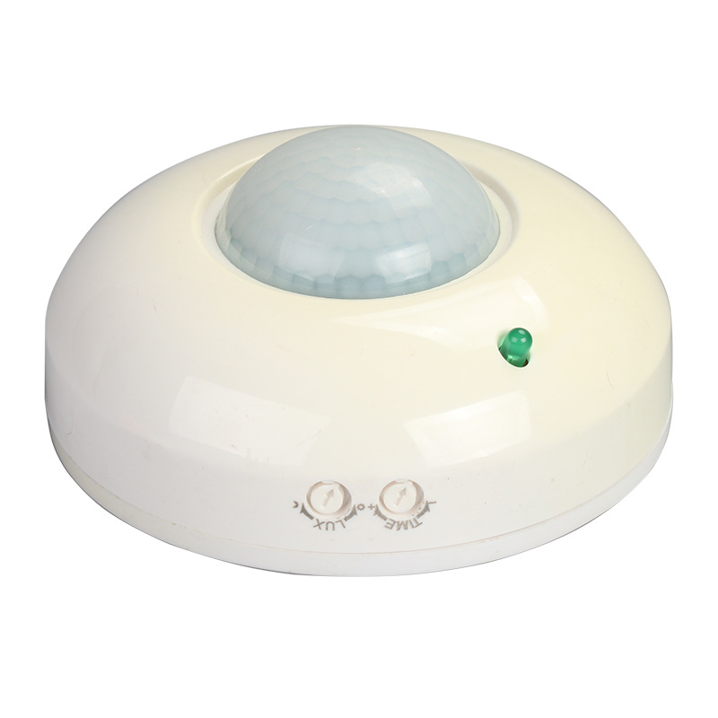 Intelligent PIR Sensor Human Infrared Motion Sensor Light Switch Ceiling Recessed Switch white