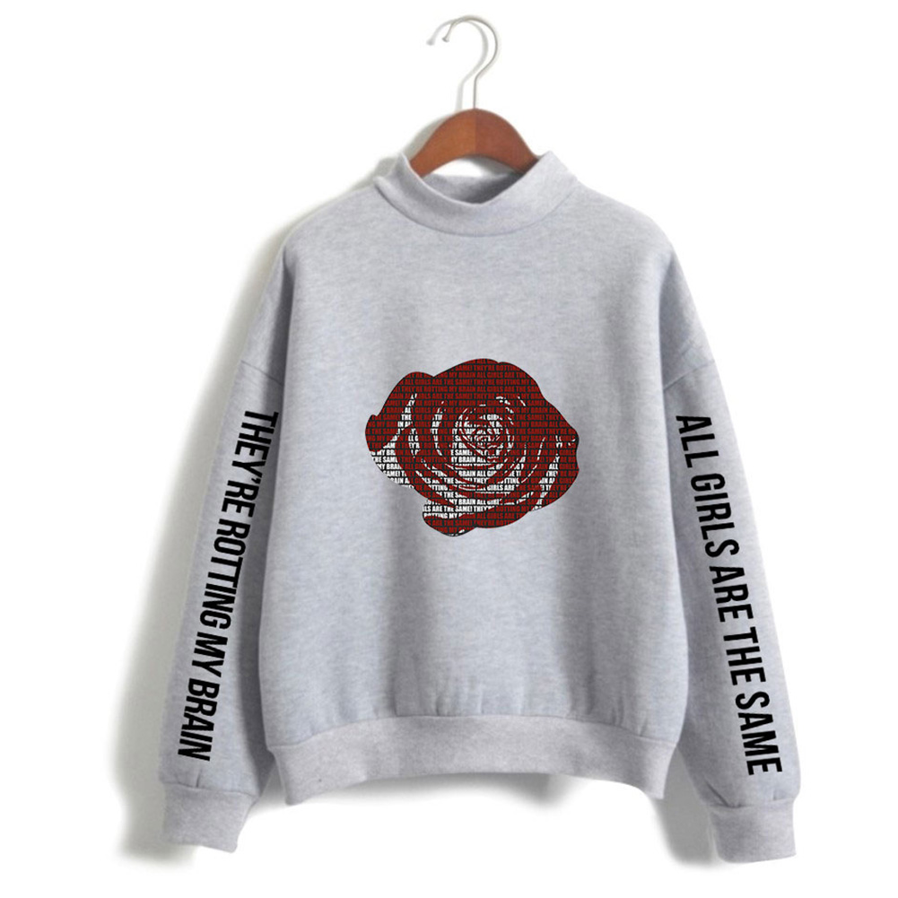 Men And Women Printed Fashion Casual Turtleneck Sweater Tops 3#_S